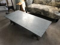 French Connection Zinc topped coffee table