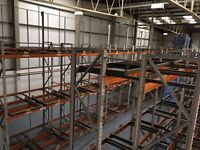 APEX INDUSTRIAL COMMERCIAL WAREHOUSE LONGSPAN PUSH BACK PALLET RACKING UNIT BAY