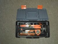 Tool box with 40 Piece Handtool kit