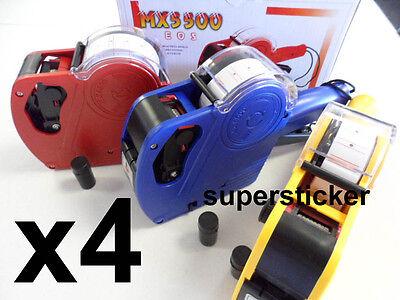 4 X Mx-5500 Eos 1 Line 8 Digits Price Tag Label Gun 4 Inks
