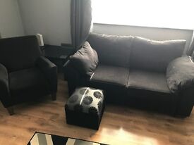 Black next sofa and chairs