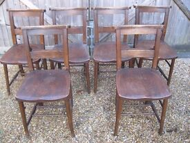 6 CHURCH CHAIRS FOR RESTORATION. Other chapel chairs & pews for sale, Also pub benches.