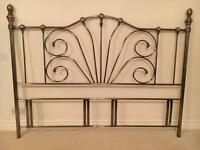 6 Ft Super king size antique brass ornate headboard- immaculate as new condition! MUST GO ASAP!
