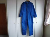 Super Champion Blue padded overall/boiler suits brilliant for cold weather x 2