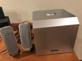 Dell A525 Zylux Multimedia 2.1 Channel 3.5mm PC Computer Subwoofer and Speakers