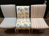 Selection of reupholstered vintage chairs