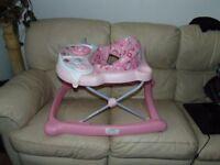 Graco baby activity walker in pink
