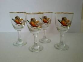 Vintage Sherry Glasses Farmhouse Grouse