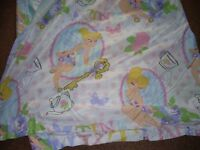 tinkerbell double bedding set with 2 pillow cases