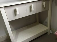 Cot bed and changing table