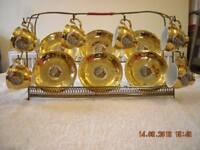 Gold miniature tea set