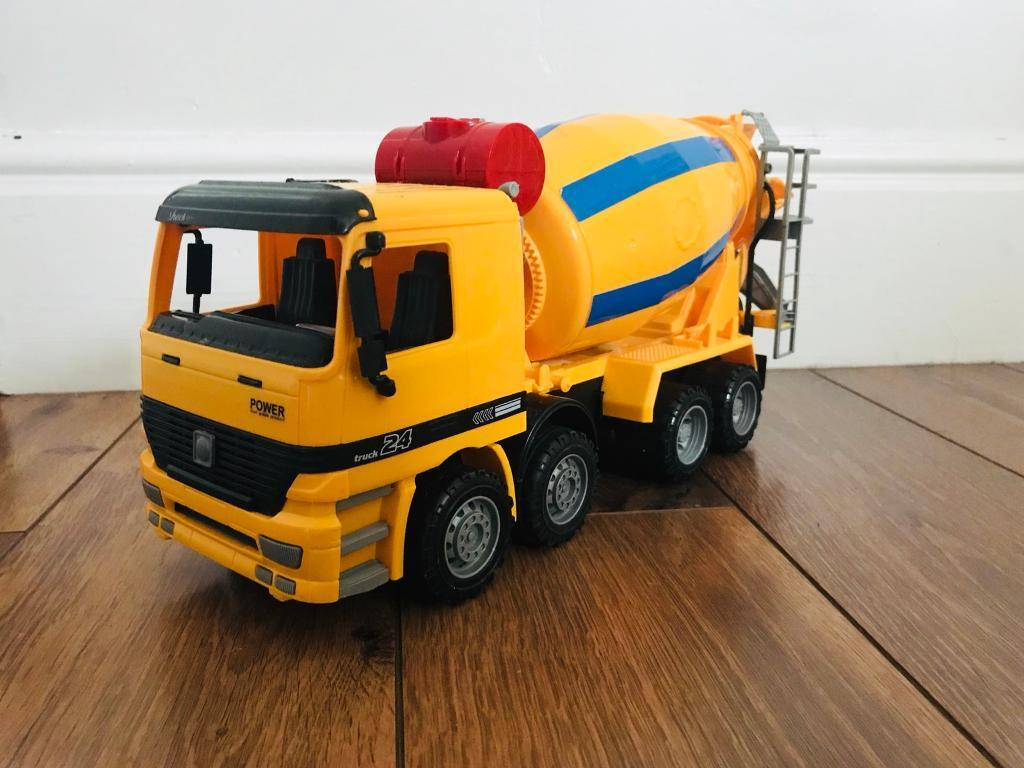 Cement mixing toy truck