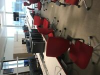 100 Red X10 Orangebox meeting/office/boardroom/conference chairs £170 each