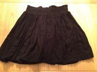Black swishy skirt, size 10
