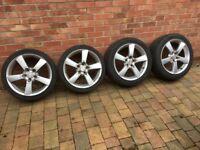 Mazda RX8 offset alloy wheels - full set