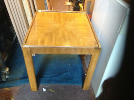 coffee table drexel mid century with pull out extension