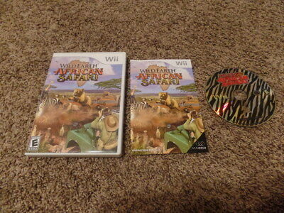 WILD EARTH AFRICAN SAFARI nintendo Wii COMPLETE MANUAL video game
