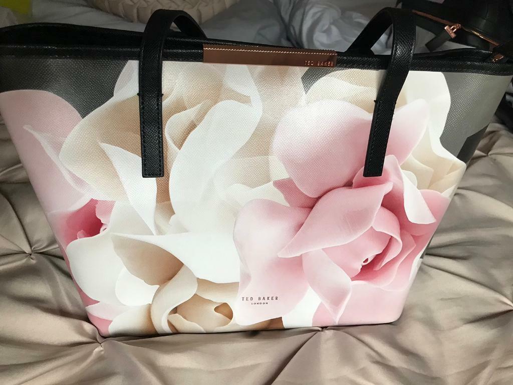 fd8bb52e6 Ted baker black porcelain rose medium handbag tote shopper | in ...