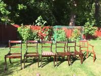 6 free vintage wood chairs