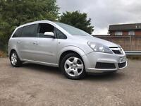 Vauxhall Zafira 7 Seater 1.6 Petrol Full Years Mot No Advisory Low Mileage Drive Great 2008 Facelift