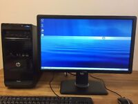 HP Pro A4 5300 3.40 Ghz , 8GB Ram 500GB/ USB 3.0 / HD7480D Graphics + Dell Monitor Desktop Computer