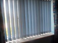 Mid Blue Vertical Blinds