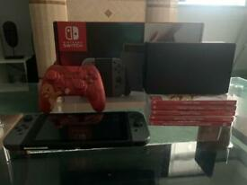 Nintendo Switch, 5 games & wired controller