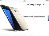 New all boxed samsng Galaxy s7 edge in black bargain £550 Ono