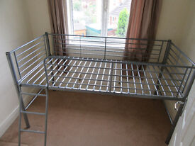 BED FRAME Single RAISED with ladder.
