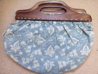 Blue floral Fat Face Handbag