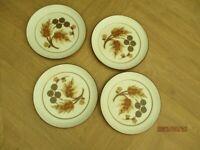 Denby set of 4 dinner plates
