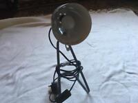 Eco halogen table lamp electric light grey used good working £3