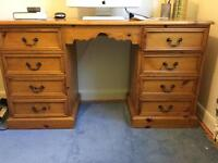 Pine dressing table and drawers
