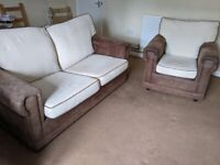 2 Seater Sofa Bed + Armchair