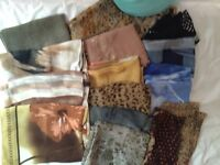 Large collection of scarves