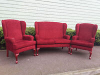 High back suite - two seater sofa and 2 armchairs - HSL Buckingham
