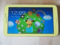 RARE Yellow Samsung Galaxy Tab 3 Kids with parental control & Reversible microUSB Great condition