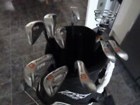9 Club (3-9, PW & SW) Powerbilt Graphite Golf Set For Sale (golf trolley also available)