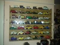 42,model cars with display case
