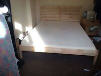 King size (5ft) bed frame and a mattress