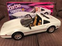 Vintage 1986 white Barbie Ferrari (boxed)