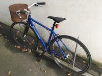 Ladies Bike - Blue - Pinnacle Aurora 1.0 with Basket and Lock