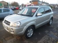 Great looking Hyundai TUCSON Limited,1991 cc 5 door 4x4,FSH,full MOT,full heated leather interior,