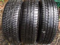 175/65/14 Tyres on Rims x 3