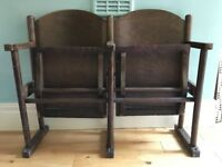 Vintage fold down cinema seats