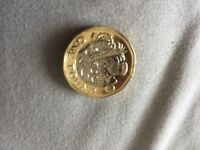 New rare 1 pound coin dated 2016