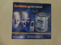 GOODMANS - STEREO CD CLOCK RADIO WITH REMOTE (Boxed)