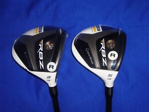 2 New TaylorMade RocketBallz RBZ Stage 2 3 and 5 Fairway Woods Golf Regular