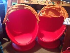 Ikea children's swivel egg chairs