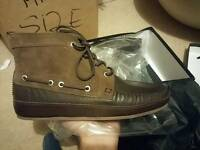Men's designer leather boots